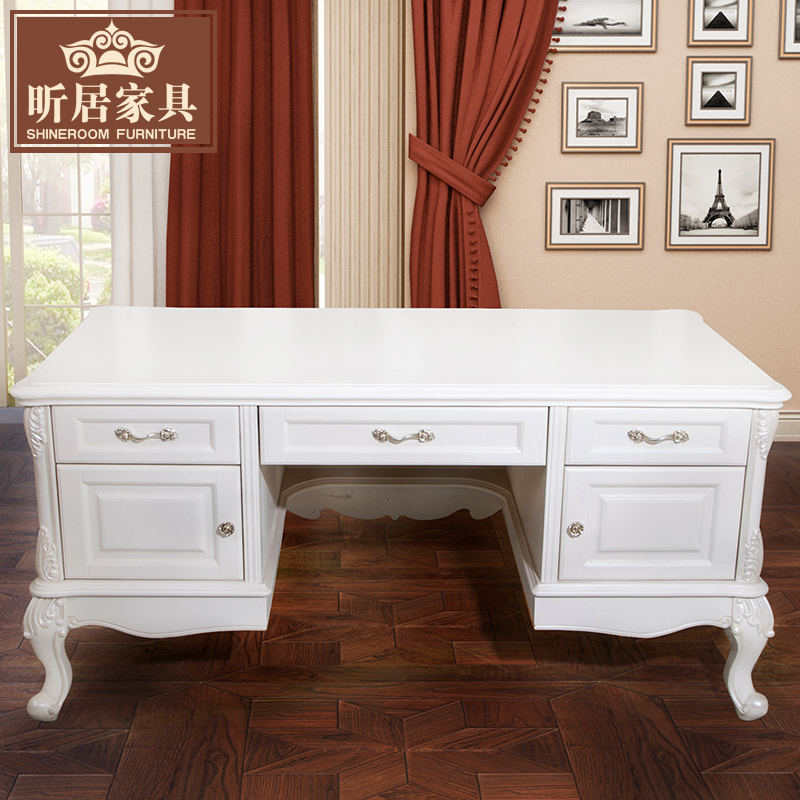 Get Ations Xin Ranking European Wood Carving New Classical Antique Calligraphy And Painting Desk White Carved