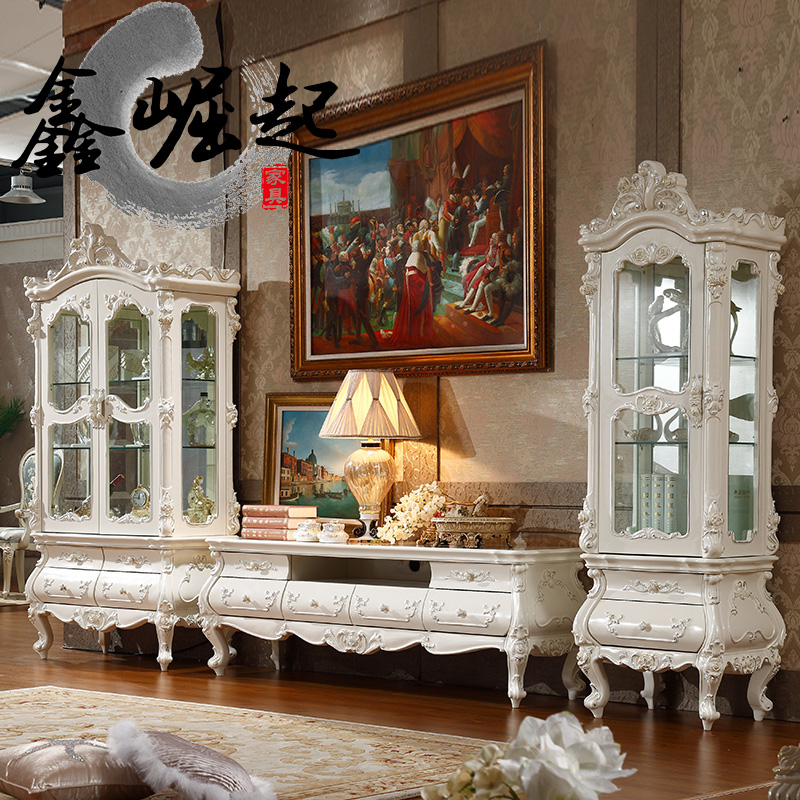 Xin rise of european tv cabinet tv cabinet combination of french minimalist living room small apartment neoclassical tv cabinet paint cabinet