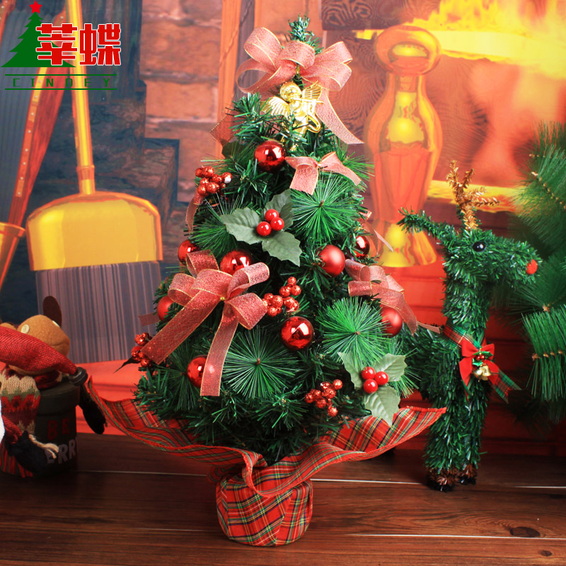 Xin skipperling korean mini table tabletop christmas tree christmas tree ornaments christmas window decoration tree hotel