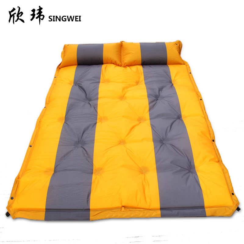 Xin wei outdoor picnic mat moisture pad thickening widening single or double nap mats 5cm tent pad automatically inflatable cushion