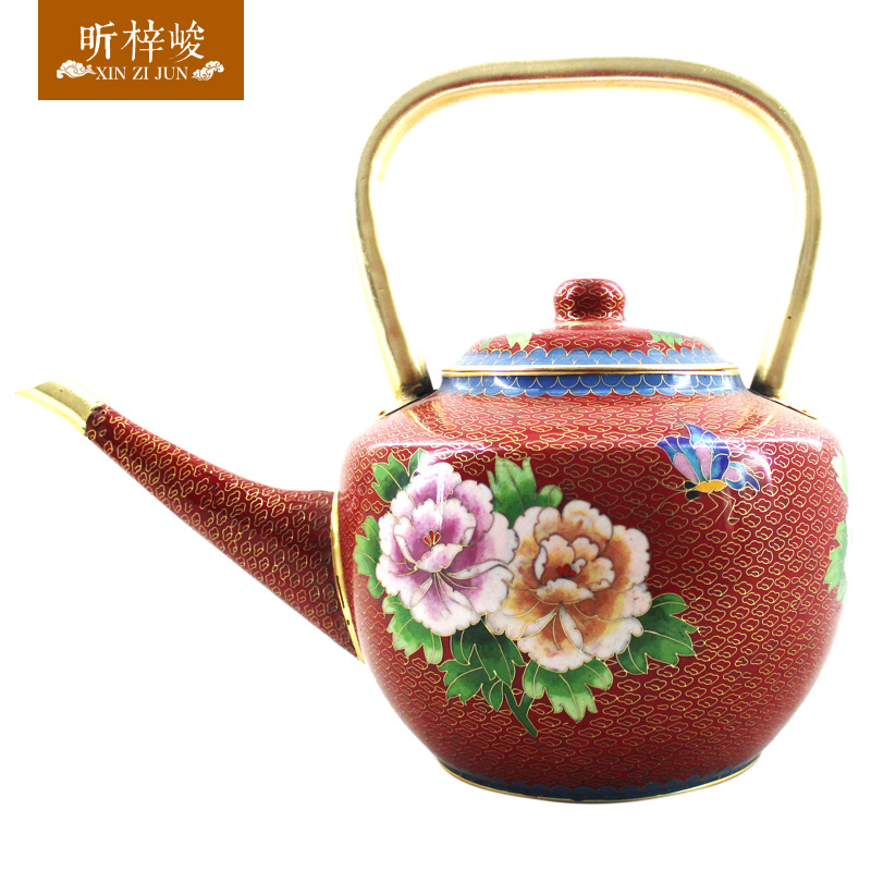 Xin zi finishing 5 5åthick cloisonn purple copper pot copper pot add soup pot copper pot kettle gifts
