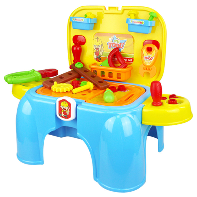 Xiongcheng child's play toy tool toolbox repair kit taiwan plate stool chair gaming chair boy gift