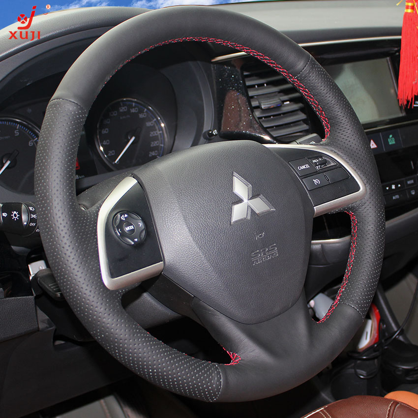 Xu remember imported mitsubishi outlander wing god hyun jin 2013 sew leather steering wheel cover to cover modification