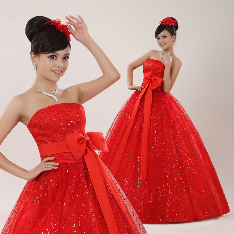 20fec85551f Xuan bride wedding dress 2016 new red dress evening dress new bride with  mother long section