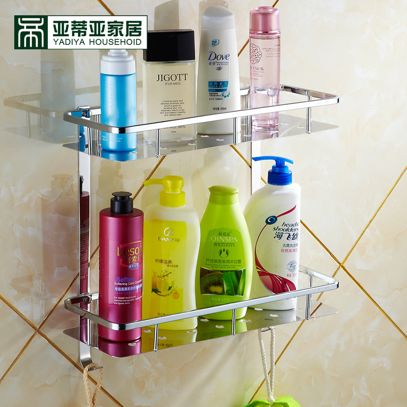 Ya diya 304 stainless steel bathroom shelf bathroom toilet bathroom wall shelving storage rack