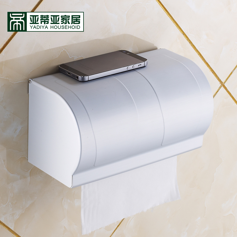 Ya diya toilet bathroom toilet tissue box tissue box of toilet paper toilet tissue box pumping tray towel rack space aluminum waterproof