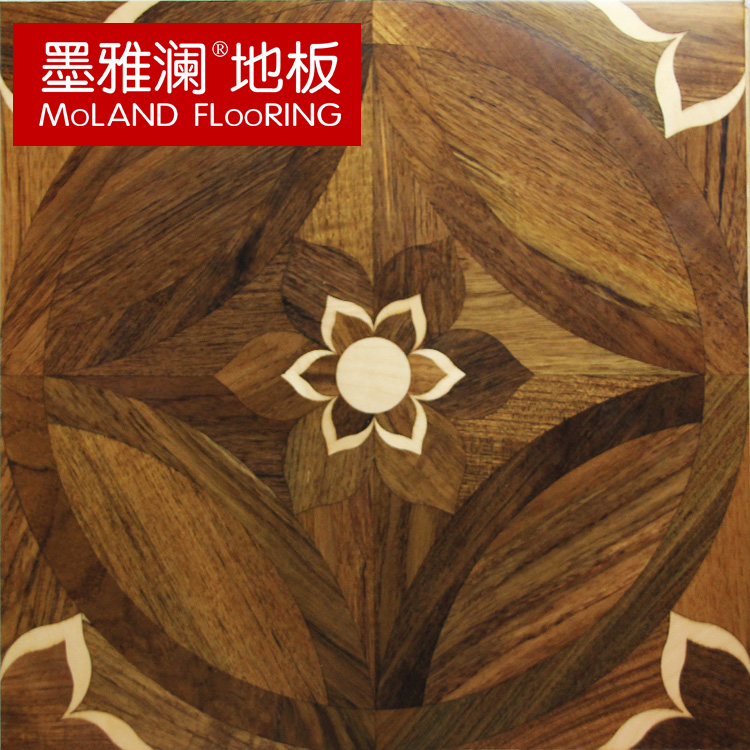 Ya lan ink florid wood composite multilayer parquet flooring teak wood package logistics free home installation