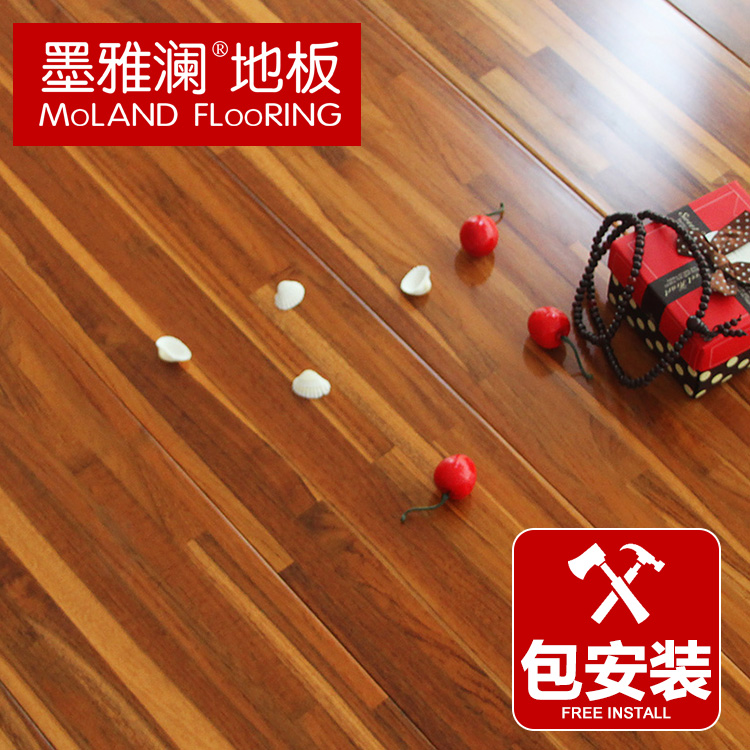 Ya lan ink teak parquet flooring multilayered wood flooring 15mm factory direct package logistics