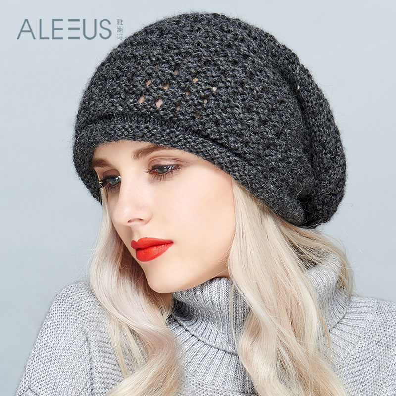 40a45508206 Get Quotations · Ya lan poetry winter fashion knit wool hat millinery tide  french handmade wool beret cap wild