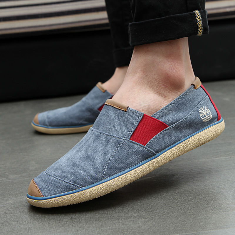Ya xuan autumn shoes a pedal canvas shoes men shoes tide shoes loafers shoes breathable korean version of casual men Shoes
