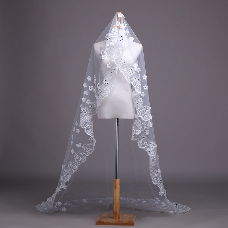 Yan fang fei bridal veil ruansha new korean version of the diamond lace bridal veil wedding veil lace veil