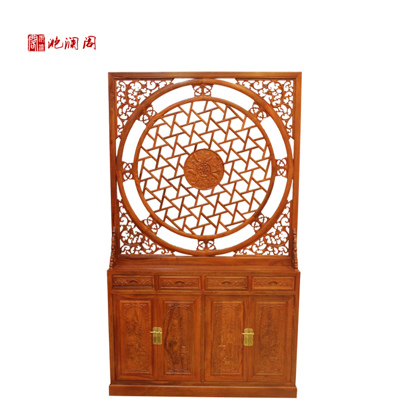 Yan lan club african rosewood mahogany wood chinese cabinet office entrance cabinet shoe off screen porch off the living room