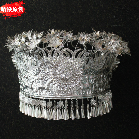 Yan qing ethnic jewelry miao silver hat hat tujia and miao ethnic clothing accessories jewelry accessories