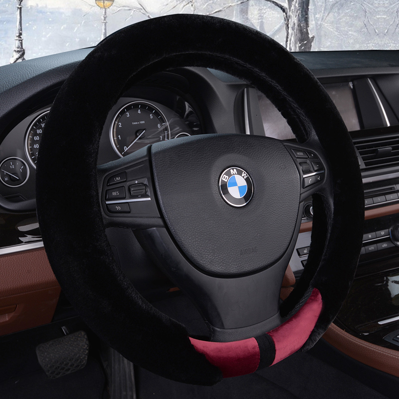Yang ji xiang car steering wheel cover soft warm autumn and winter plush car to cover plush steering wheel cover