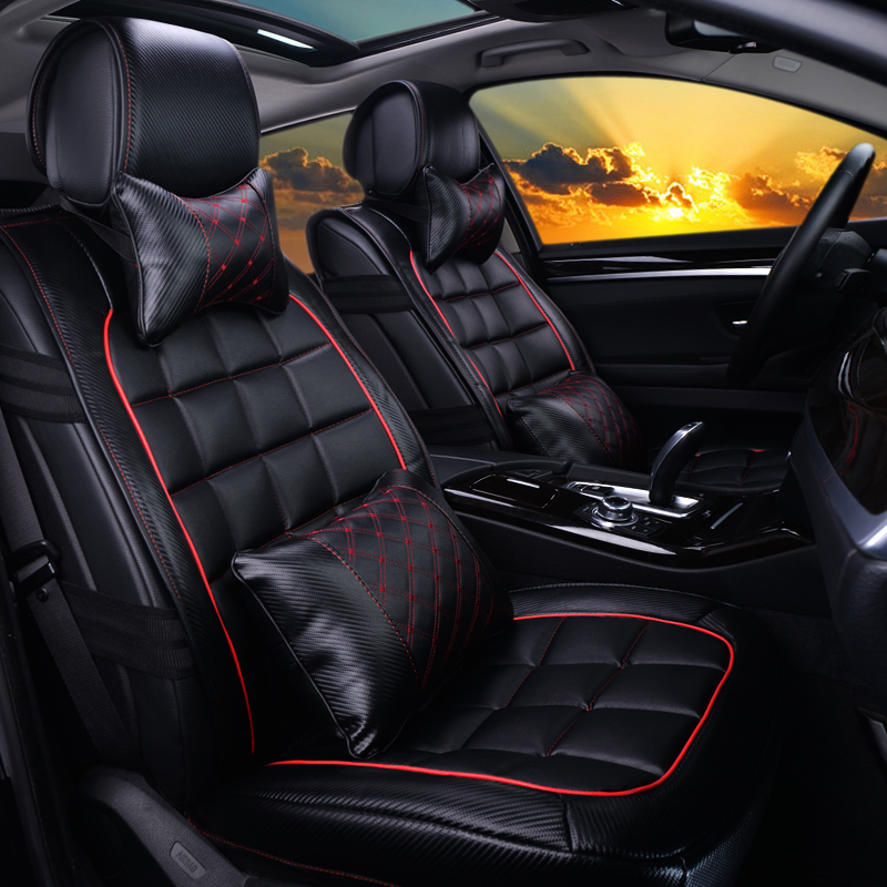 Yang ji xiang winter new carbon fiber leather shipped whole package cushion personality stylish and comfortable moving car seat cover