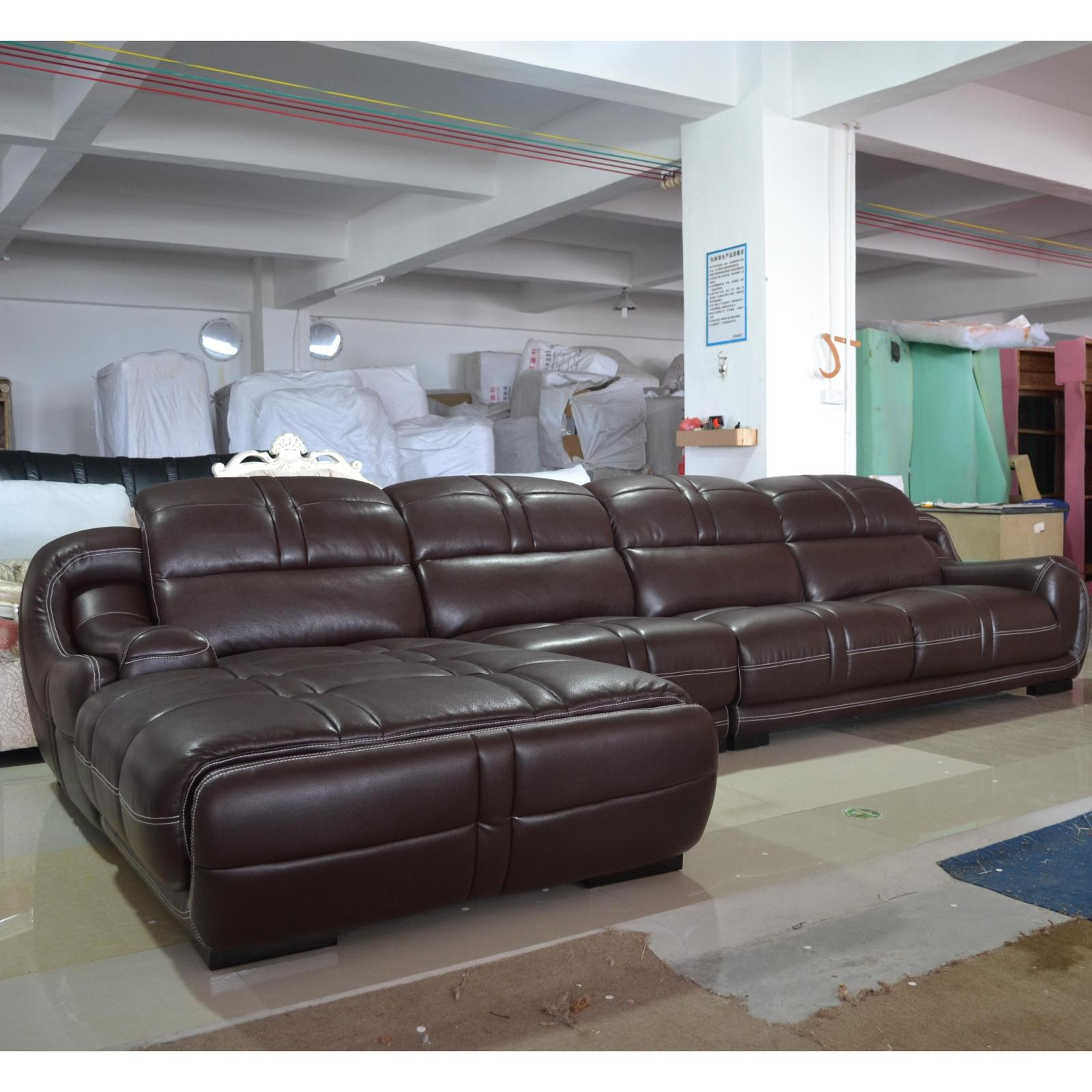 Yang ming ju authentic modern casual living room corner sofa combination of first layer of imported leather minimalist leather sofa in the thick