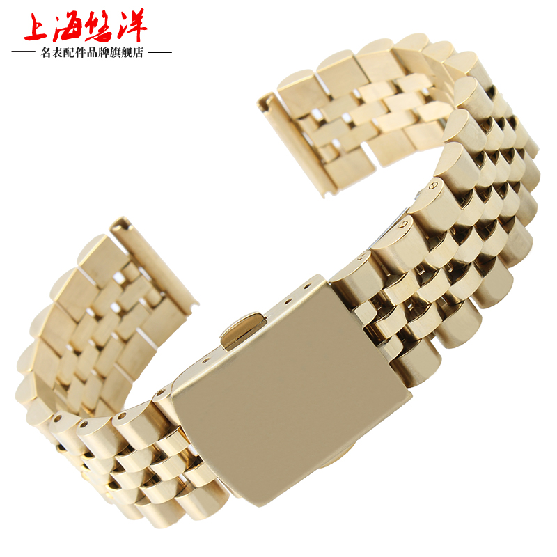Yau yang solid stainless steel rose gold watch steel bracelet for men and women adaptering rolexes table 18 | 20mm