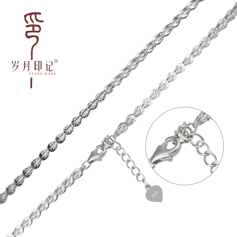 Years imprint silver 925 silver necklace classic pteris silver chain necklace silver necklace female models in europe and america style