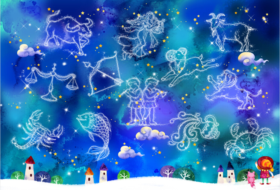 [Yi chen] 1000 wooden jigsaw puzzle 1500 cartoon fun educational toys gift twelve constellation map