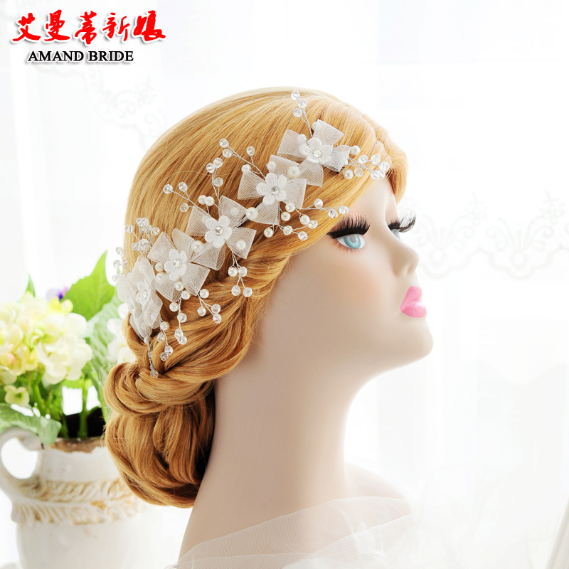 Yi mandi bride bridal jewelry new handmade lace models crown crown headband hair bands korean jewelry hair accessories wedding style
