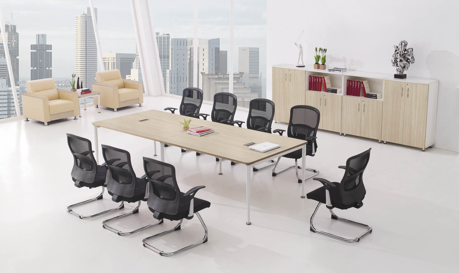 Yi ping large and small conference table long conference table minimalist modern conference table conference table training table negotiating table stylish simplicity