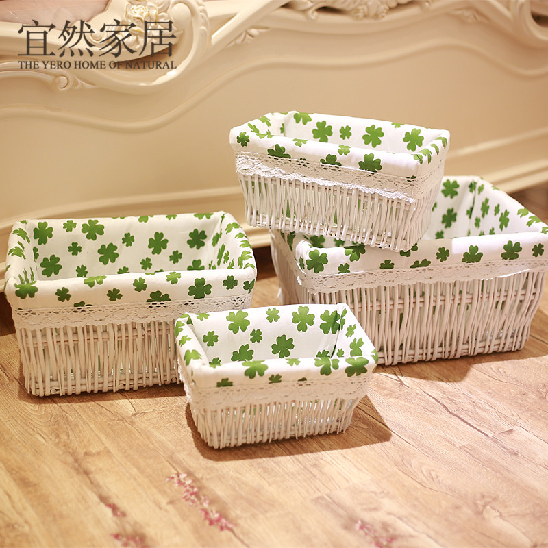 Yi ran home finishing rattan basket willow storage baskets storage basket of dirty clothes basket kitchen room snack debris storage box