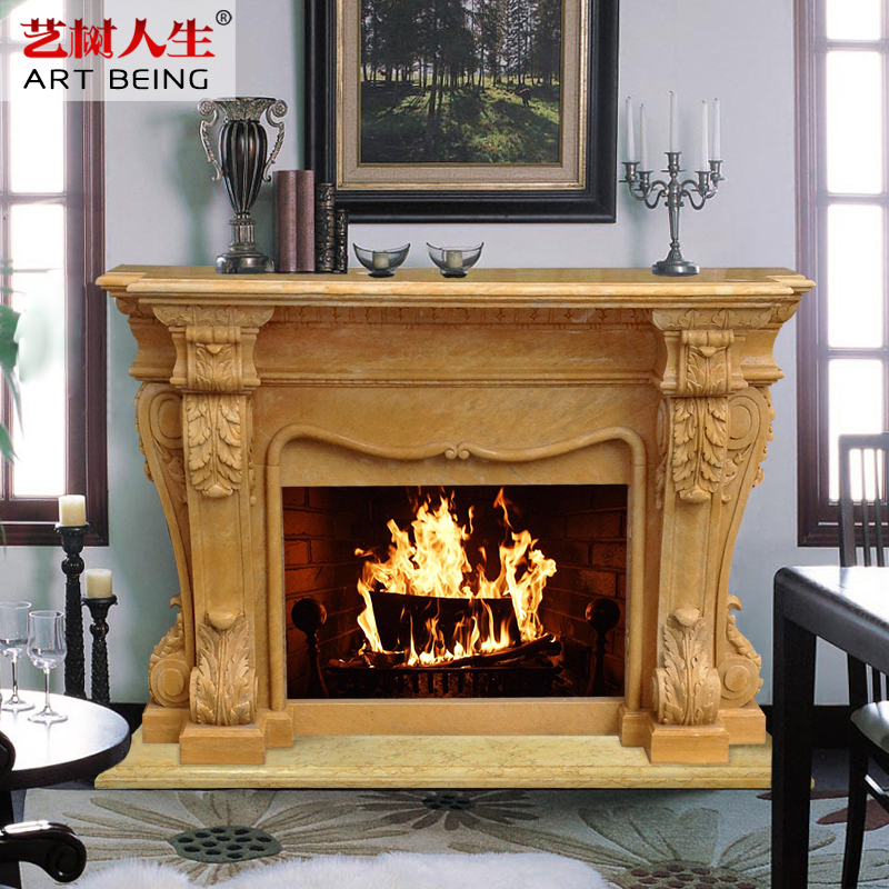 [Yi tree of life] deluxe continental fireplace fireplace fireplace popularity selling natural marble fireplace mantel