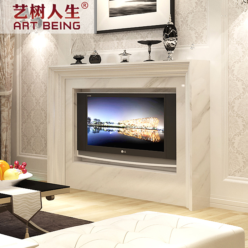 [Yi tree of life] factory direct light board depending cabinet fireplace electric fireplace mantel fireplace european beautifully green stone fireplace