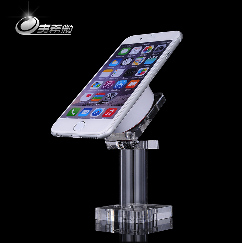 Yi xi micro phone theft chain experience transparent organic glass counter display stand display rack bracket bracket seat