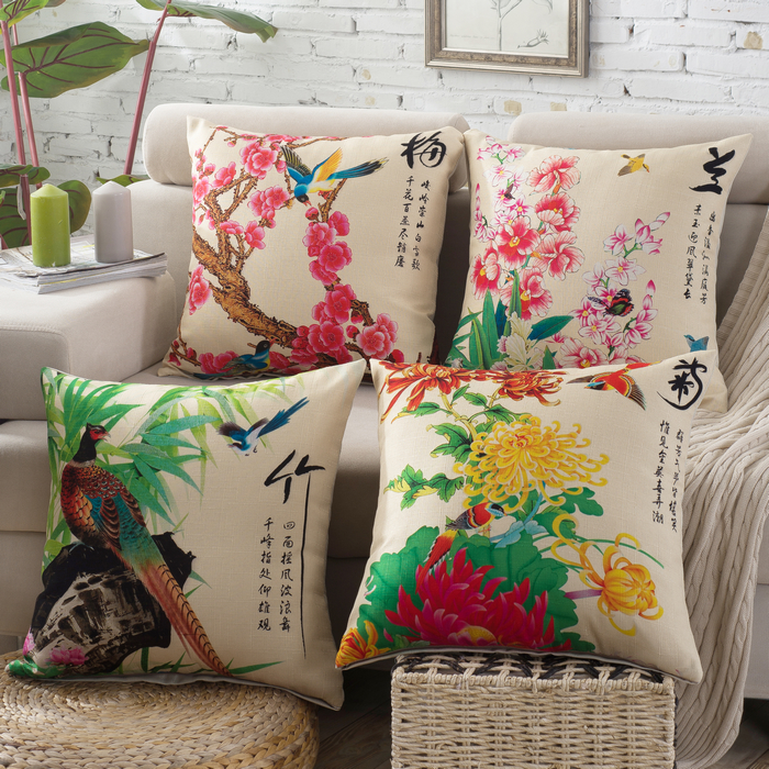 Yi xi sleep decorated american country by the end of merlinè竹decorated with soft fabric sofa cushion pillow cushion covers core containing backrest
