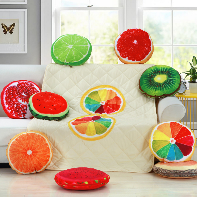 Yi xi sleep decorated office fruit series round pillow cushion sofa cushion pillow is dual siesta is a large backrest