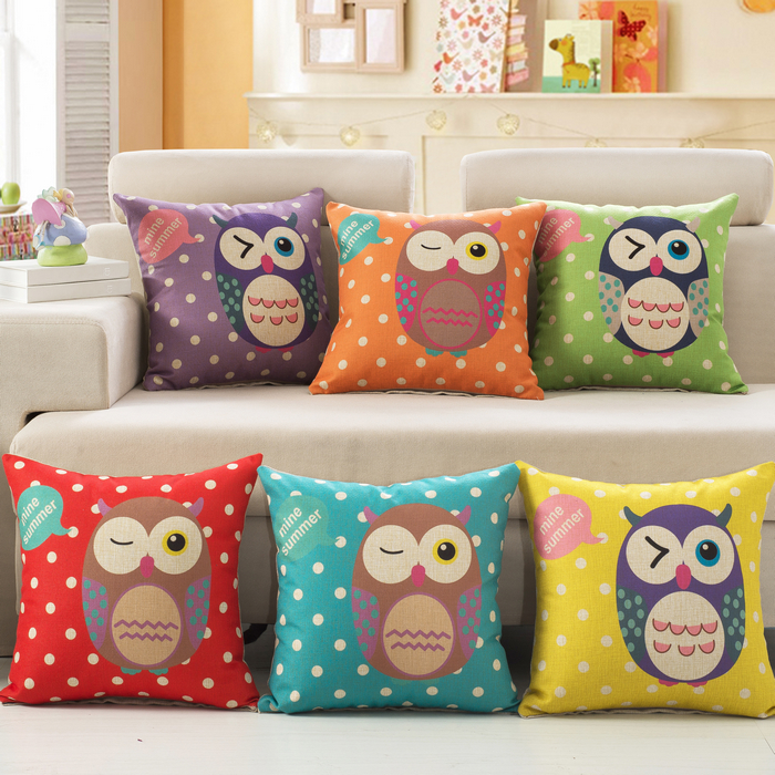 Yi xi sleep decorated sleep decorated with cute cartoon pillow cushions containing core backrest students personality owl sets new