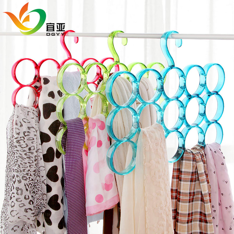 Yi ya bright nordic circle scarf rack tie rack multifunction plastic hanger ring scarf belt rack