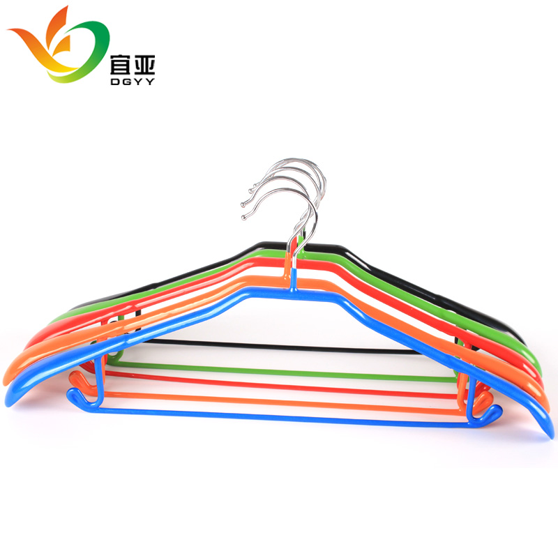 Yi ya nanosized broad shoulders slip hanger racks seamless metal manganese dip clothes hanging clothes rack clothes hanger support