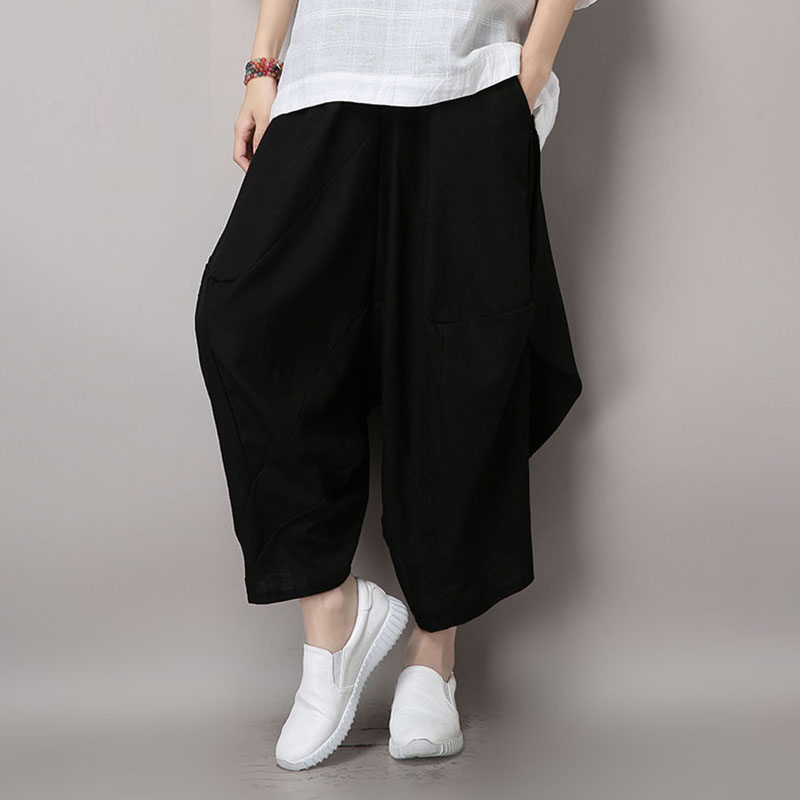 Yin plus 2016 hitz korean version of the natural waist cotton pants harem pants women's casual pants pantyhose female