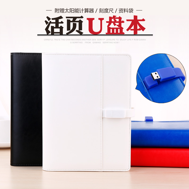 Ying li jia business binder stationery notebook notepad program of the u disk u disk 4g office diary book customization