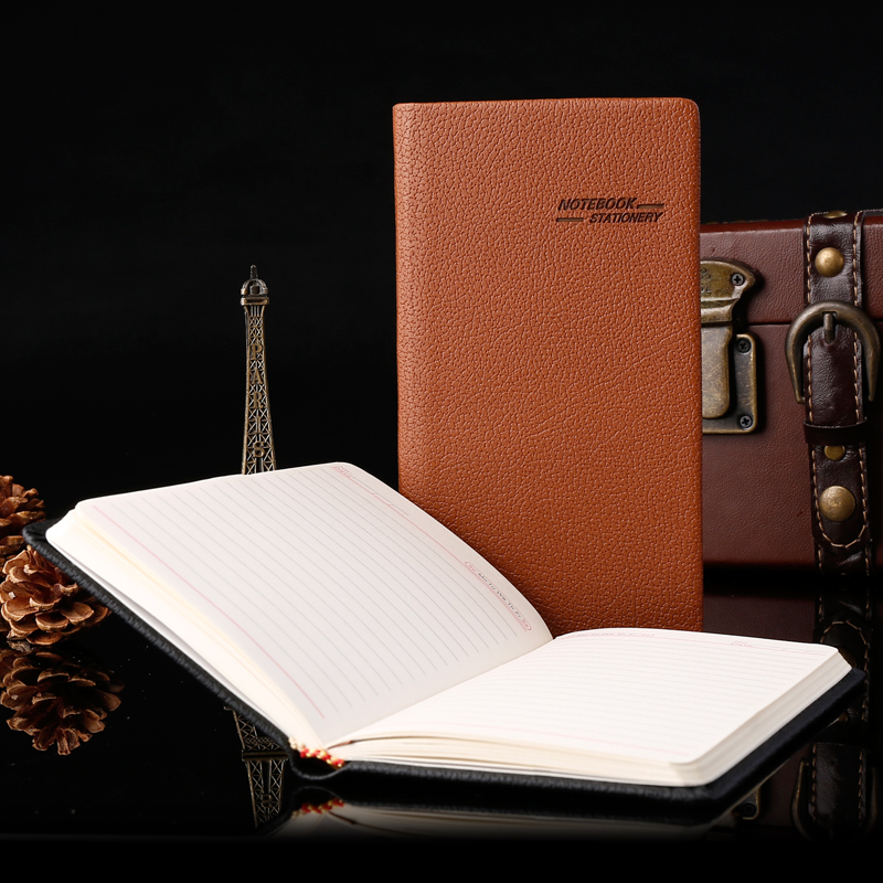 Ying li jia business leather notebook notepad office supplies stationery diary k small book can be customized