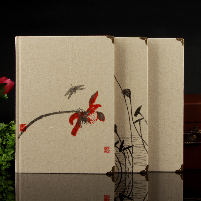 Ying li jia chinese style retro notepad a4 notebook notebook office supplies stationery notebook hardfaced