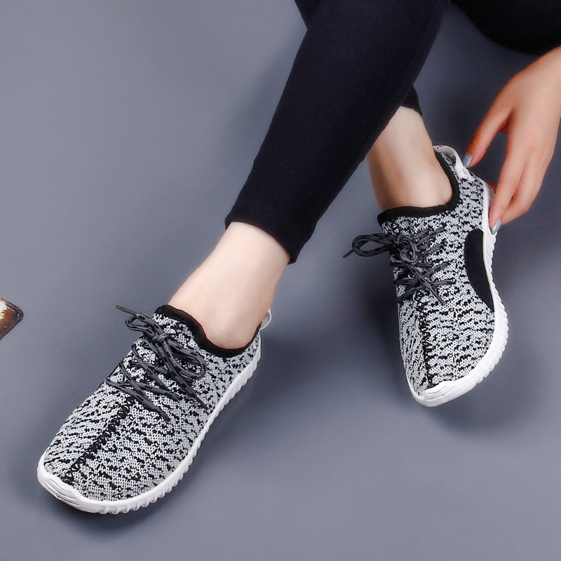 Yu di female couple models fly woven casual sports shoes korean tidal shoes jogging shoes old beijing beijing cloth shoes coconut Women's singles shoes