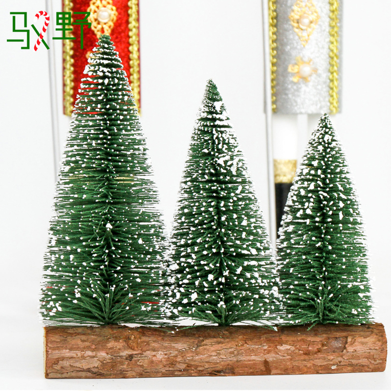 Yu wild christmas tree small three tree counters placed countertops integration flocking mini christmas tree