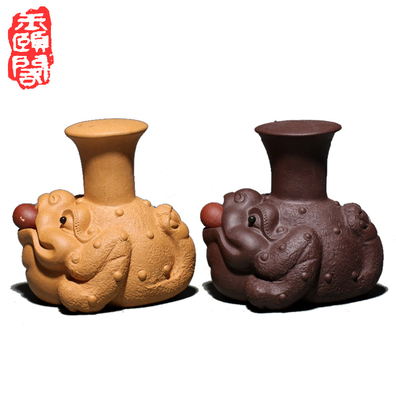 Yu yi ge â â â lucky ore famous tea yixing tea pet ornaments handmade tea play tea tray ornaments toad tray cover