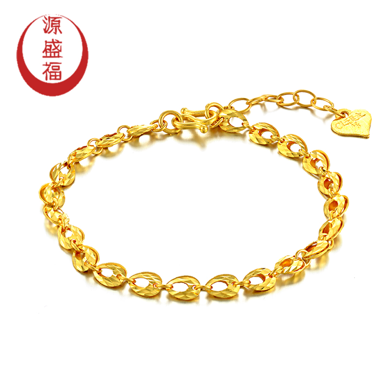 Yuansheng genuine blessing 999足édroplets fashion boutique pure k gold bracelet jewelry female models can be adjusted