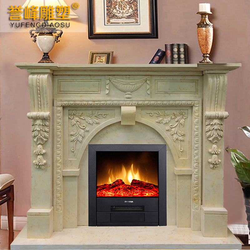 Yufeng euclidian sculpture carved fireplace mantel fireplace mantel fireplace marble fireplace stone fireplace mantel decoration cabinet BL776