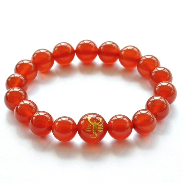 Yun xi twelve constellation scorpio crystal red agate bracelet male and female models