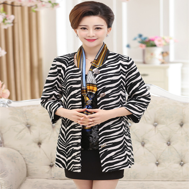Yun yi court in older women new spring windbreaker and long sections slim middle-aged mom mother dress coat big yards coat