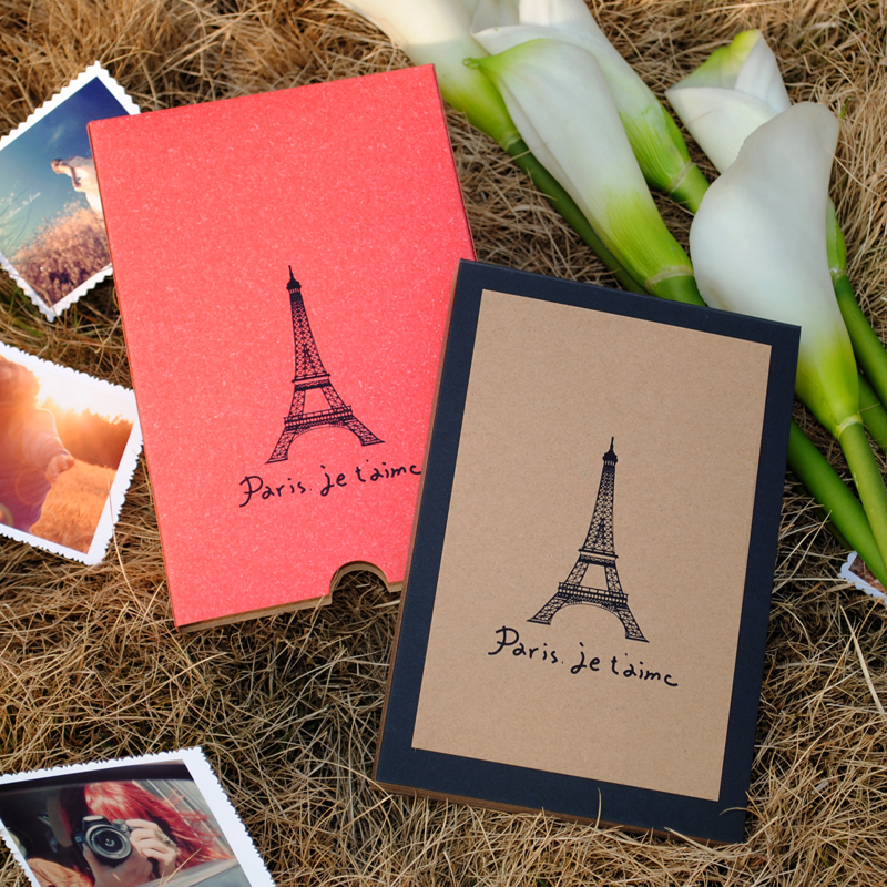 Yunshui kyrgyzstan it is true paris eiffel tower diy handmade couple diy album 7 boxed album album to send crayons