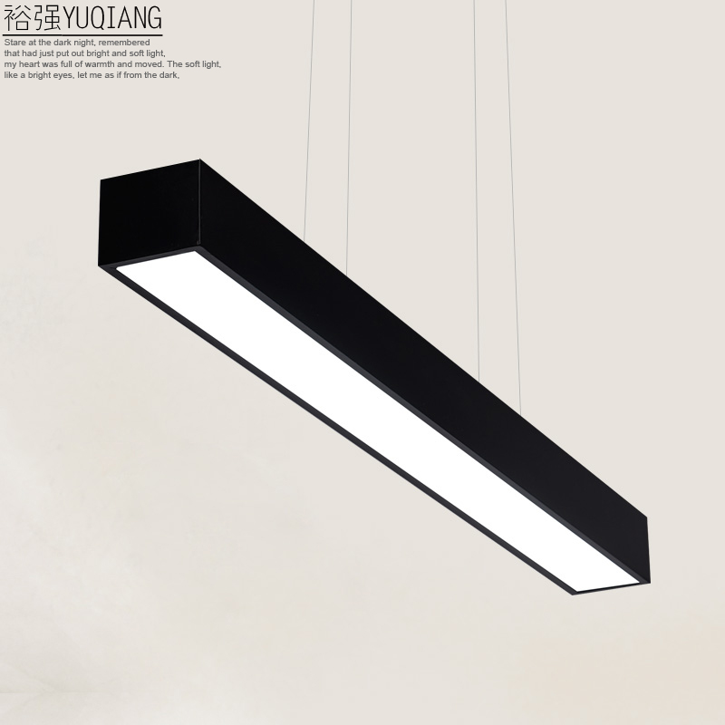 Yuqiang led modern minimalist restaurant lights lamps creative black and white nordic art chandelier lamp study lamp office