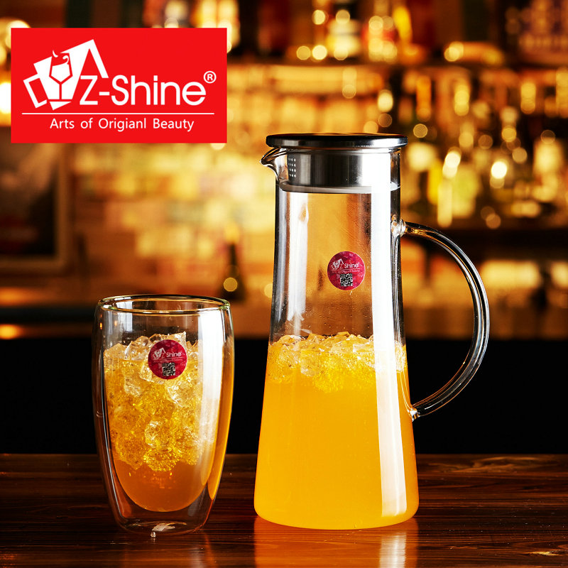 Z-shine creative cold resistant glass kettle large kettle cool suit juice cup double cup of green tea
