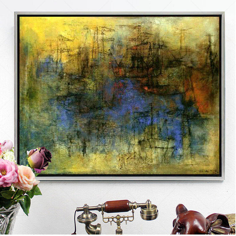Zao abstract painting the living room decorative painting paintings framed painting home accessories modern decorative painting murals study