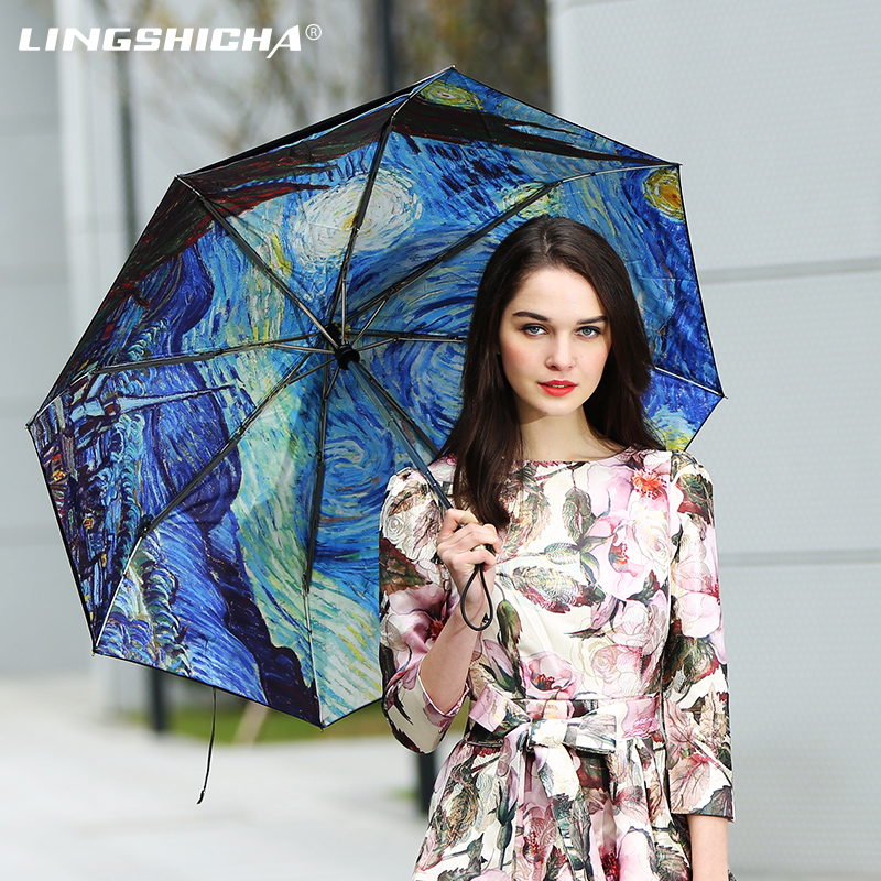 Zero lag creative canvas umbrella folding double vinyl super sun shade umbrella uv sun umbrella rain or shine